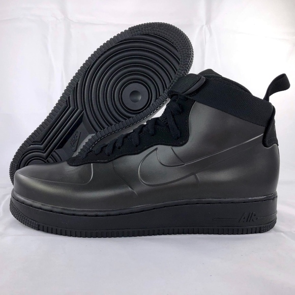 the latest f517d 609d7 Nike Air Force 1 One Foamposite Cup Triple Black